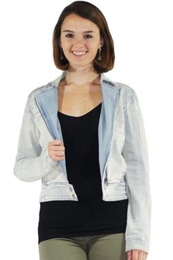 Stylzoo - Denim Moto Jacket