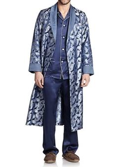 Derek Rose - Printed Silk Robe