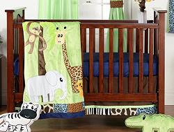 One Grace Place  - Jazzie Jungle Boy Infant Crib Bedding Set