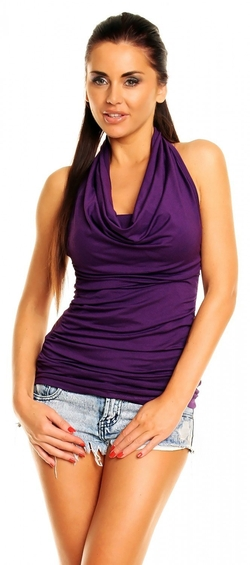 Zeta Ville Fashion - Halter Neck Open Back Top