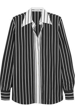 Miu Miu  - Striped Cotton Poplin Shirt