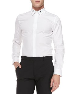 Givenchy   - Colorblock-Collar Shirt