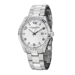 Stührling - White Dial Stainless Steel Watch