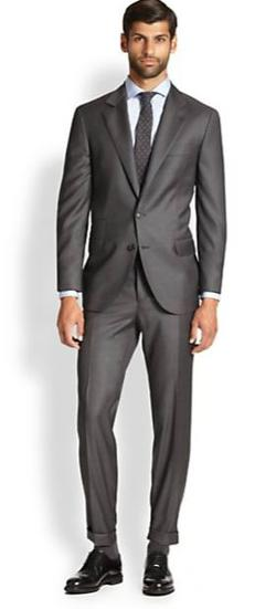 Brunello Cucinelli - Solid Gabardine Wool Suit
