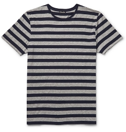 Steven Alan   - Striped Cotton-Jersey T-Shirt