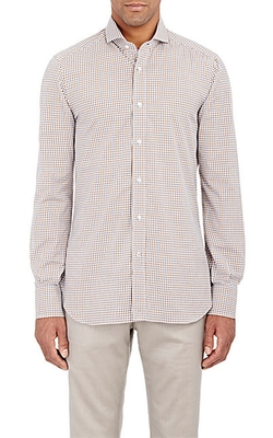 Isaia - Plaid Poplin Shirt