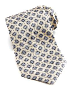 Stefano Ricci  - Floral Medallion Silk Tie, Yellow