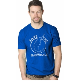 Crazy Dog T-Shirts - Save the Narwhals T-Shirt