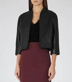 Reiss - Collarless Leather Jacket