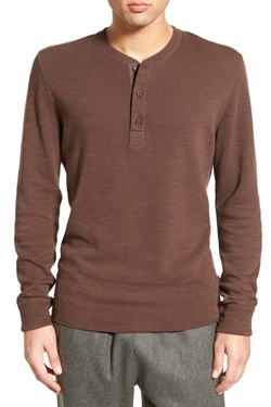 Billy Reid - Hunter Textured Henley Shirt