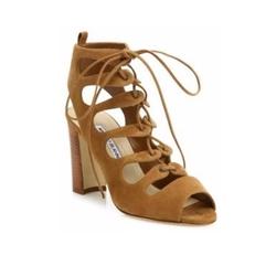 Manolo Blahnik - Attal Suede Lace-Up Sandals