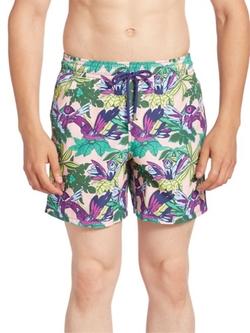 Vilebrequin  - Printed Drawstring Swim Shorts