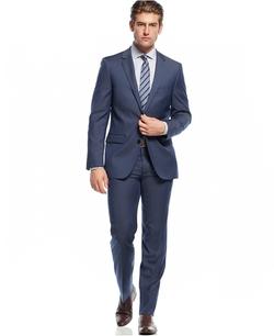 DKNY - Solid Sharkskin Suit