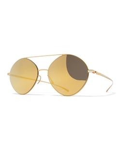 Mykita + Maison Margiela  - Essential Brow-Bar Round Sunglasses