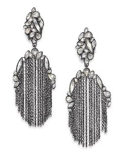 Alexis Bittar - Miss Havisham Chain Tassel Drop Earrings