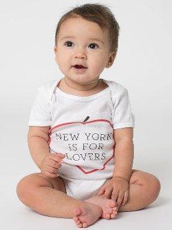 American Apparel - Printed Infant Baby Rib Short Sleeve Onesie