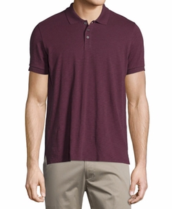 Vince  - Short-Sleeve Slub Polo Shirt