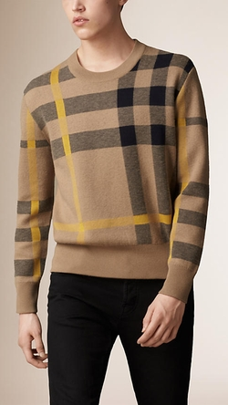 Burberry - Check Cotton Blend Sweater