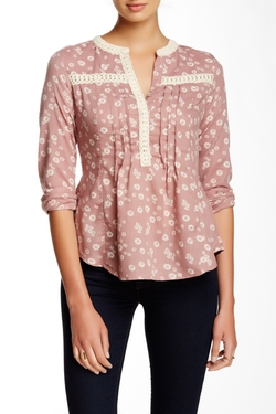 A.Maglia  - Floral Printed Peasant Blouse