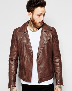 Asos - Faux Leather Biker Jacket