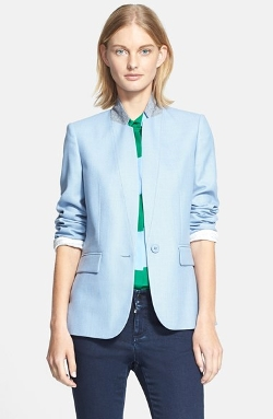 Stella McCartney  - Contrast Collar Wool Jacket