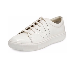 Vince - Luke Patent Lace-Up Low-Top Sneaker