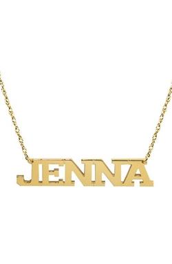 Jane Basch Designs  - Personalized Varsity Pendant Necklace