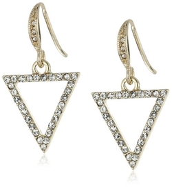 ABS By Allen Schwartz  - Black and White Triangle Drop Earrings