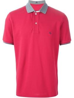 Fay - Contrasting Collar Polo Shirt