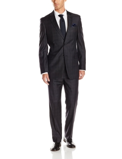 Tommy Hilfiger - Nathan Plaid Two-Button Trim-Fit Suit