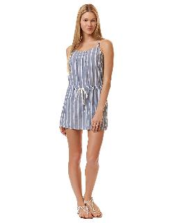 C&C CALIFORNIA  - Wide Striped Chambray Sundress