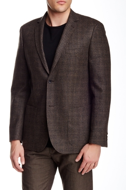 Zanetti  - Plaid Two Button Notch Lapel Wool Sportcoat