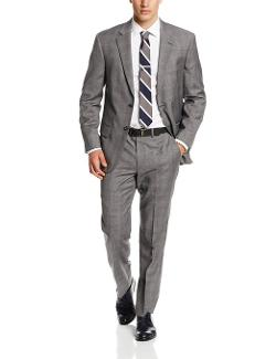 Nautica  - Plaid Suit with Flat-Front Pant