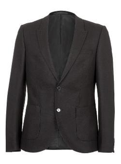 Topman - Flannel Skinny Suit Jacket