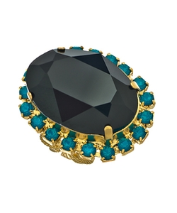 Liz Palacios - Onyx Crystal Statement Ring
