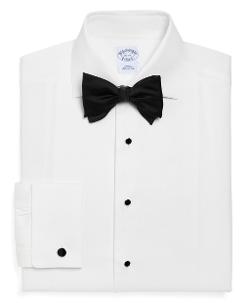 BROOKS BROTHERS - Slim Fit Bib-Front Spread Collar Tuxedo Shirt