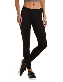 Charlotte Russe - Ankle Length Stretch Cotton Leggings