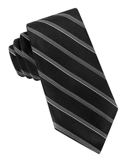 DKNY  - Core Stripe Silk Tie