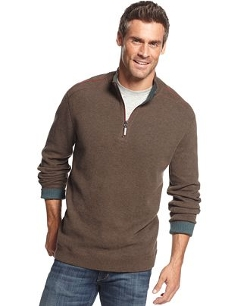 Tommy Bahama  - Flip Side Pro Reversible Half-Zip Sweater