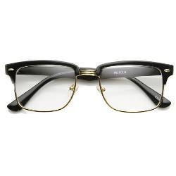 zeroUV - Square Vintage Inspired Clubmaster Wayfarer Glasses