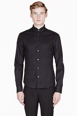 MCQ ALEXANDER MCQUEEN - BLACK CLASSIC BUTTON-DOWN SHIRT