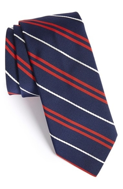 Todd Snyder White Label - Stripe Silk & Cotton Tie