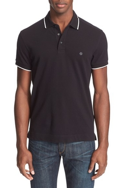 Z Zegna - Broken Stripe Tipped Polo Shirt