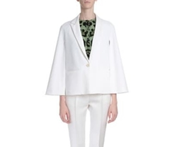 Givency - Cape-Sleeve One-Button Jacket