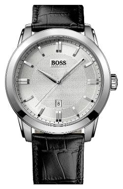 Hugo Boss - Round Leather Strap Watch