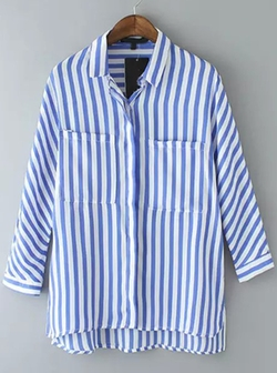 Romwe - Vertical Stripe Blouse