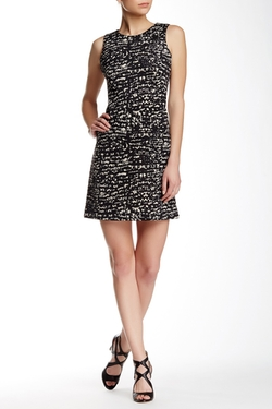 Taylor - Speckled Print Scuba Shift Dress