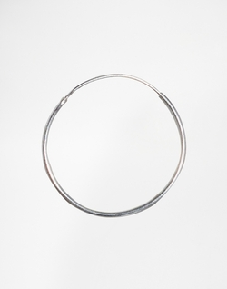 Asos Collection - Sterling Silver Hoop Earrings