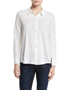 Eileen Fisher - High-Low Button-Front Shirt