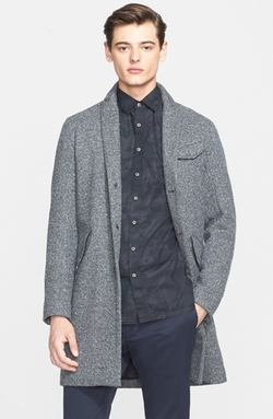 Kenneth Cole Reaction  - Elmore Slim-Fit Tic Overcoat